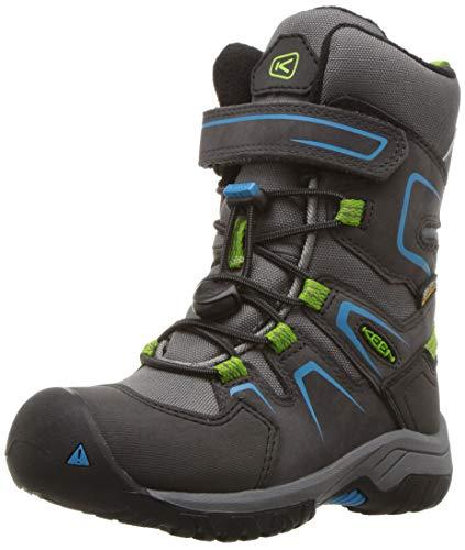 Keen Levo Botte d'hiver IMPERMÉABLE, Chaussures de Randonnée Hautes Mixte Enfant, Noir (Magnet/Blue Jewel 001), 29 EU