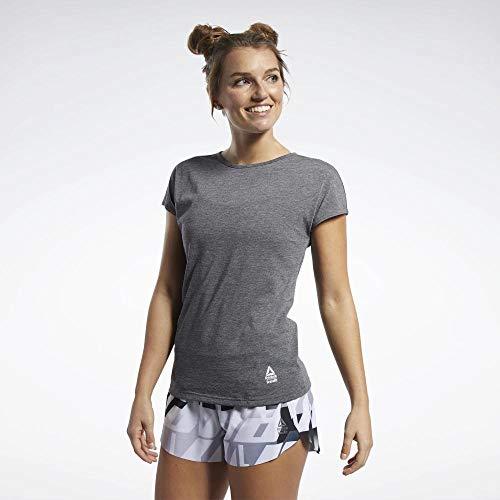Reebok Damen Rc Activchill + Cotton Tee Kurzärmeliges T-Shirt, schwarz, S