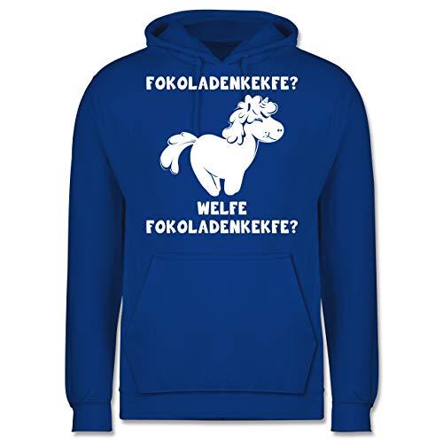 Shirtracer Einhörner - Fokoladenkekfe Einhorn - M - Royalblau - Fun - JH001 - Herren Hoodie und Kapuzenpullover für Männer