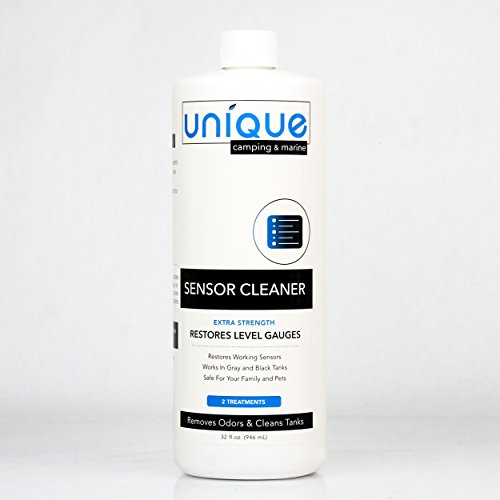 Unique RV Sensor Cleaner – 32 oz. | for RV and Boat Black Water Holding Tanks | Cleans and Restores Level Gauges | Works On Old and New Problems