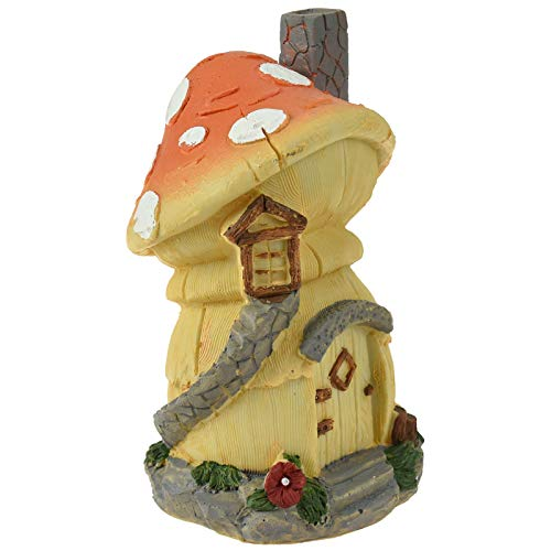 URBNLIVING Secret Fairy Garden Accessories House Enchanted Forest Woodland Magical Ornament (Toadstool Tavern)