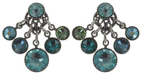 KONPLOTT Waterfalls Ohrstecker für Damen   Exklusive Designer-Ohrringe mit Swarovski Steinen   Glamouröser Ohrschmuck passend zu jedem Anlass   Handgefertigter Damen-Schmuck   Blau
