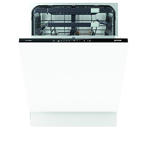 Gorenje GV 68260 SmartFlex Superior/Integrierbarer Geschirrspüler/A+++/13 Maßgedecke/211 kWh/Jahr/59,6 cm/41 dB (A)/Total AquaStop/schwarz/edelstahl