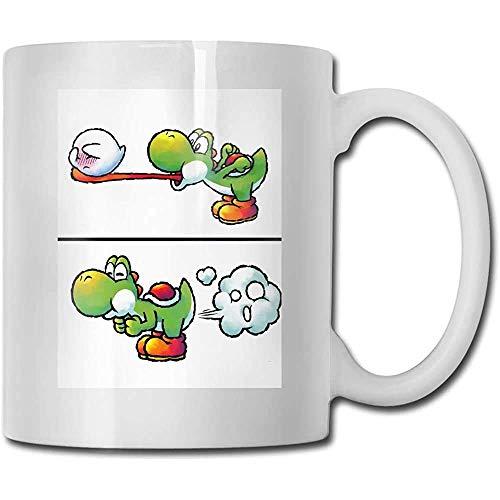 Kaffee & Tee Geschenkbecher Furz Yoshi Keramik Tasse DIY Becher Bestes Geschenk für Familie, Freund, Lehrer 11oz