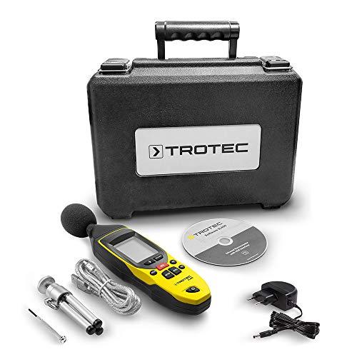 TROTEC 3510005020 SL400 Schallpegel Messgerät mit Datenlogger-Funktion (bis zu 32.700 Messwerte) mit USB-Anschluss und 3,5 mm Klinkenbuchse / Inkl. Kalibrierzertifikat, Mini-Stativ und Transportkoffer - 3