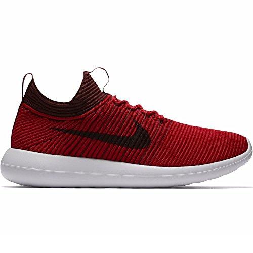 Nike Men's Roshe Two Flyknit V2 Chile/Red/Black/Bourdeaux/White Running Shoe 10 Men US