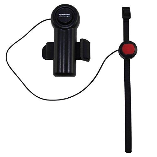 kh security Schutzalarm für Rollator, Rollstuhl, Gehstock, schwarz, 100152