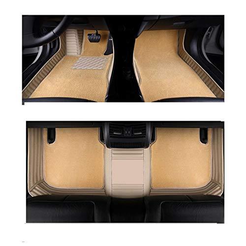 QWERQF Alfombrillas para el Suelo del Coche Accesorios Alfombra Alfombra,para Peugeot 307 sw 508 sw 308301 2008 5008 2010 4008607 3008 Rojo