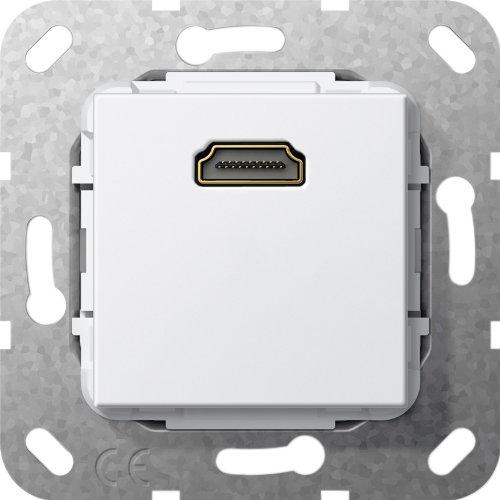 Gira 567003 HDMI Kabelpeitsche Einsatz, reinweiß