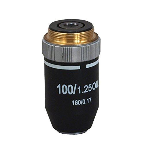 OMAX 100X Semi Plan Achromatic Objective for Compound Microscopes