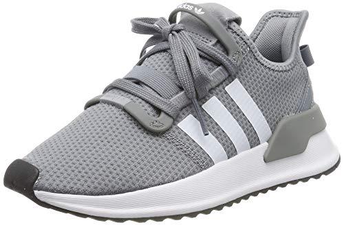 adidas Herren U_Path Run J Laufschuhe, Mehrfarbig (Grey/FTWR White/Core Black G28111), 36 2/3 EU