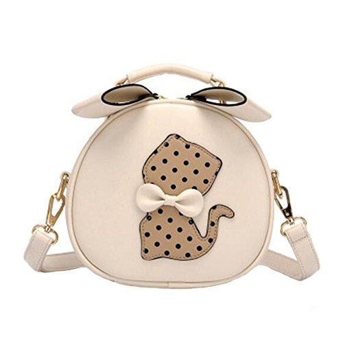 Loisirs Retro Cat Mignon élégant unique épaule Bag Bag Fashion Bourse Lovely Shoulder Bag Girls