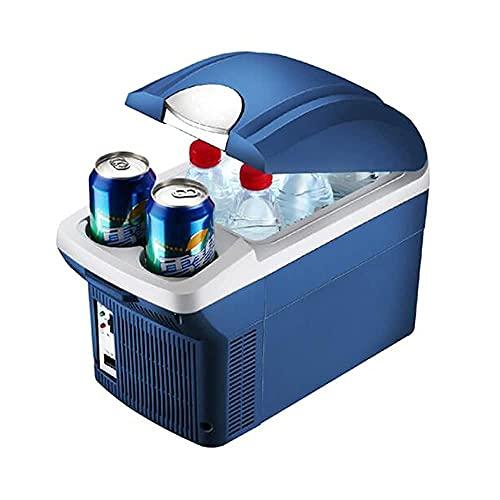 WECDS-E Refrigerador y Calentador termoeléctrico portátil del refrigerador del Coche eléctrico de la Caja fría de 8 litros, para Bebidas, Cerveza, Vino, mariscos, Frutas, hogar y Viajes