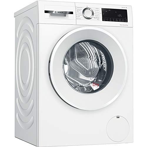 Bosch WNA14490GB Serie 6 Freestanding Washer Dryer with AutoDry, SpeedPerfect, Iron Assist, Wash & Go 60 and AllergyPlus, 9kg/6kg load, 1400rpm spin - White