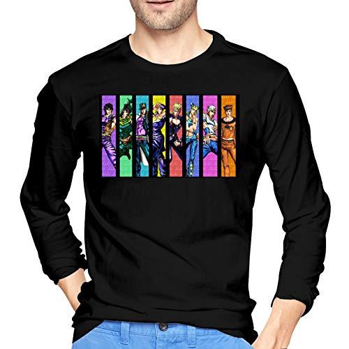 DCEGas Jojos Bizarre Adventure - Camiseta de manga larga para hombre, color negro