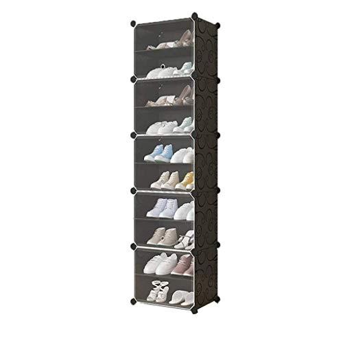 Diaod Zapato Gabinete Simple y económico de Zapatos, Ahorro de Espacio del hogar Dormitorio Estante de plástico Multicapa Gabinete de Almacenamiento