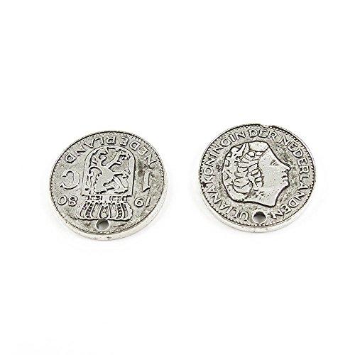 Antieke Zilveren Toon Sieraden Bedels S07722 Nederland Munt Craft kunst maken Crafting Kralen Antiek Zilver