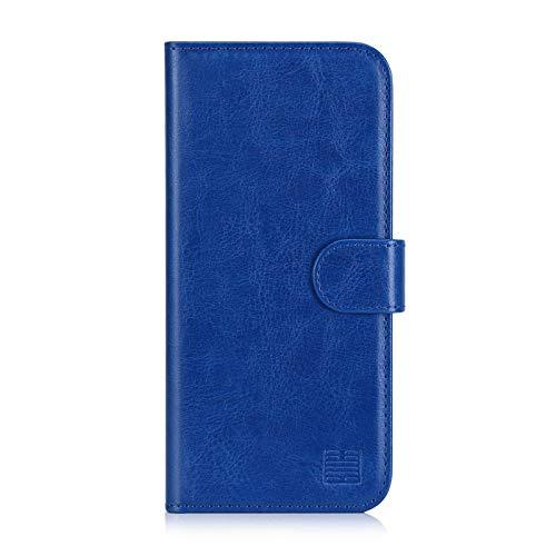 32nd® Funda Flip Carcasa de Piel Tipo Billetera para Samsung Galaxy A3 (2016) con Tapa y Cierre Magnético y Tarjetero - Azul