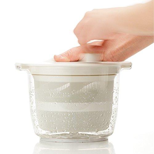 リス野菜水切り器リベラリスタサラダスピナー2.3Lホワイト