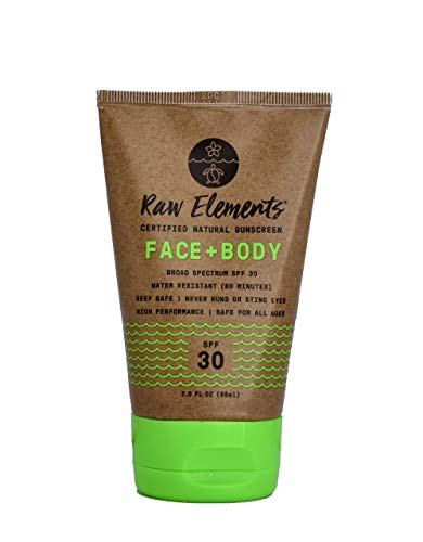 Raw Elements Eco Form Sunscreen SPF 30 Plus 3 Oz