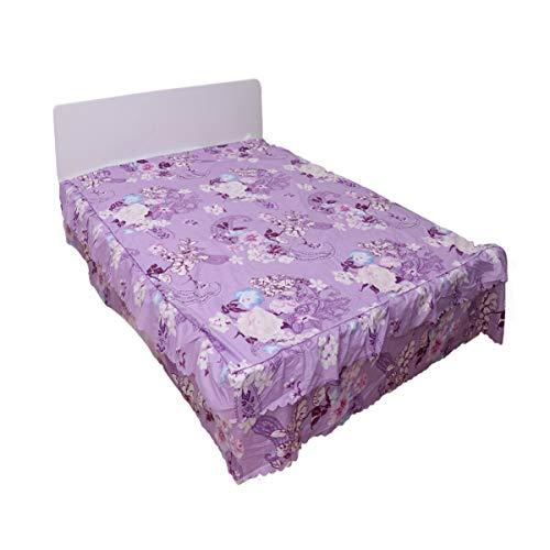 VOSAREA 1 pc Imprimé Jupe De Lit Confortable Doux Winkle Gratuit Couverture De Lit Drap Couvre-lit pour La Maison