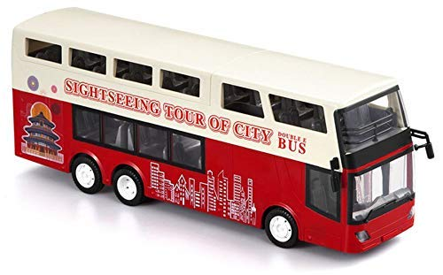 efaso Double E E640-003 RD Doppeldecker Bus 2,4GHz 1:18 mit abnehmbaren Dach, Sightseeing Bus, Blinker, Licht, Türöffner, Fahrgeräusche