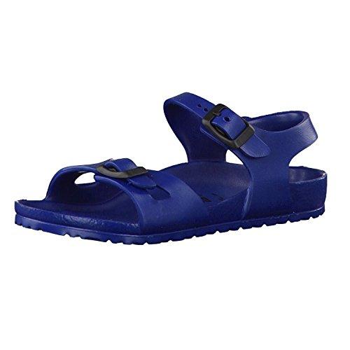 Birkenstock Rio EVA 0126123 Sandales Bleu Marine pour Enfants avec Boucles en Caoutchouc 28