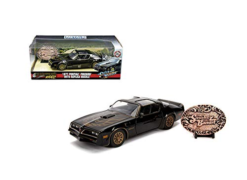 1:24 W/B - Metals - Hollywood Rides - Smokey and The Bandit - 1977 Pontiac Firebird with Replica Buckle 30998 by JADA