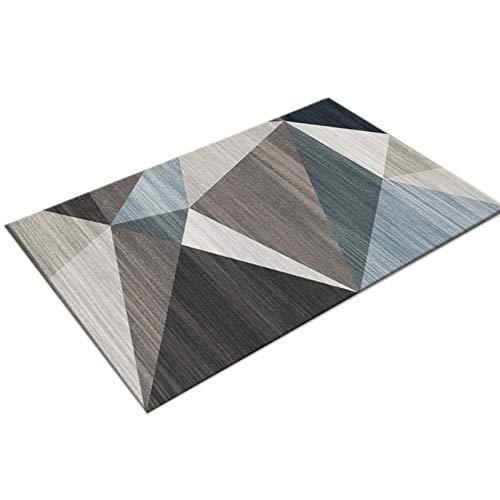 Facai - Felpudo para entrada antipolvo, alfombra decorativa moderna, alfombra de entrada absorbente de poliéster antideslizante para exterior interior, 60 x 90 cm