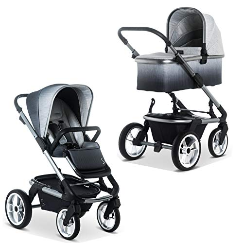 SOLITAIRE Premium Kombi-Kinderwagen mit Sportwagenaufsatz & Babywanne Degradee | 63770200-888 + 63770201-888