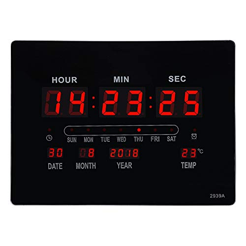 Dioche Reloj Digital de Montaje en Pantalla Grande, Reloj eléctrico de Pared...