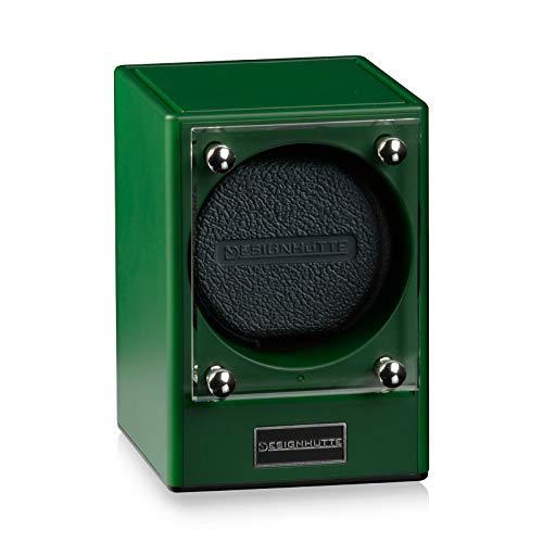 DESIGNHÜTTE® Uhrenbeweger Piccolo, Piccolors Limited Edition Jade/grün, für 1 Automatikuhr, Modulares System bis zu 4 Beweger können über Induktion drahtlos miteinander verbunden Werden.