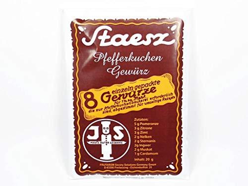 Pfefferkuchengewürz von Staesz | 20g | 8 einzeln verpackte Gewürze für 1,5kg Mehl
