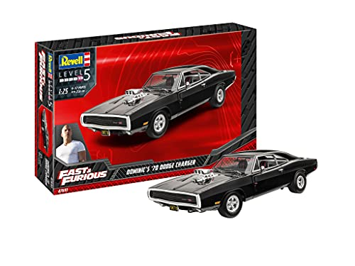 Revell-07693 Dominics 1970 Dodge Charger Fast & Furious Maquette, 07693, Incolore