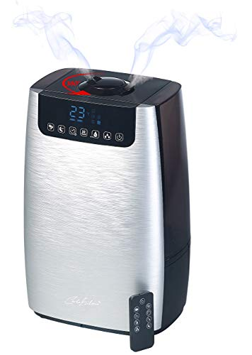 Carlo Milano Raumbefeuchter: Digitaler Ultraschall-Aroma-Luftbefeuchter & -reiniger, Ionisator & UV (Diffusor)