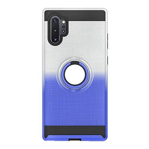 The Grafu Hülle für Galaxy Note 10 Pro 5G, Silikon TPU + Hart PC 2 in 1 Handyhülle, 360 Grad Ring Ständer Schutzhülle für Samsung Galaxy Note 10 Pro 5G, Silber + Blau