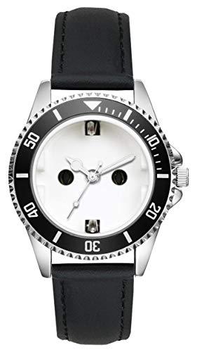 Geschenk für Elektriker Steckdosen Beruf Uhr L-2524