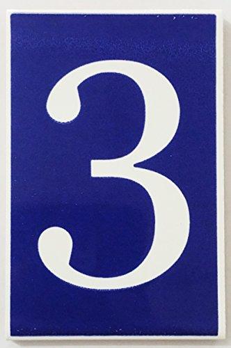 ARTESANÍA ROCA Letras y números de azulejo cerámico Valenciano. Modelo Azul Ibero. Medidas 10cm Alto x 6.5cm Ancho. Muy Decorativo y de Calidad (3)