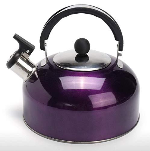 RHP 3L Edelstahl Flötenkessel Pfeifkessel Wasserkessel Wasserkocher Teekessel(Lila)