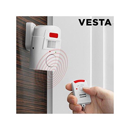 Omnidomo IG110958 Alarma inalámbrica con Sensor de Movimiento Mediante Infrarrojos, Blanco