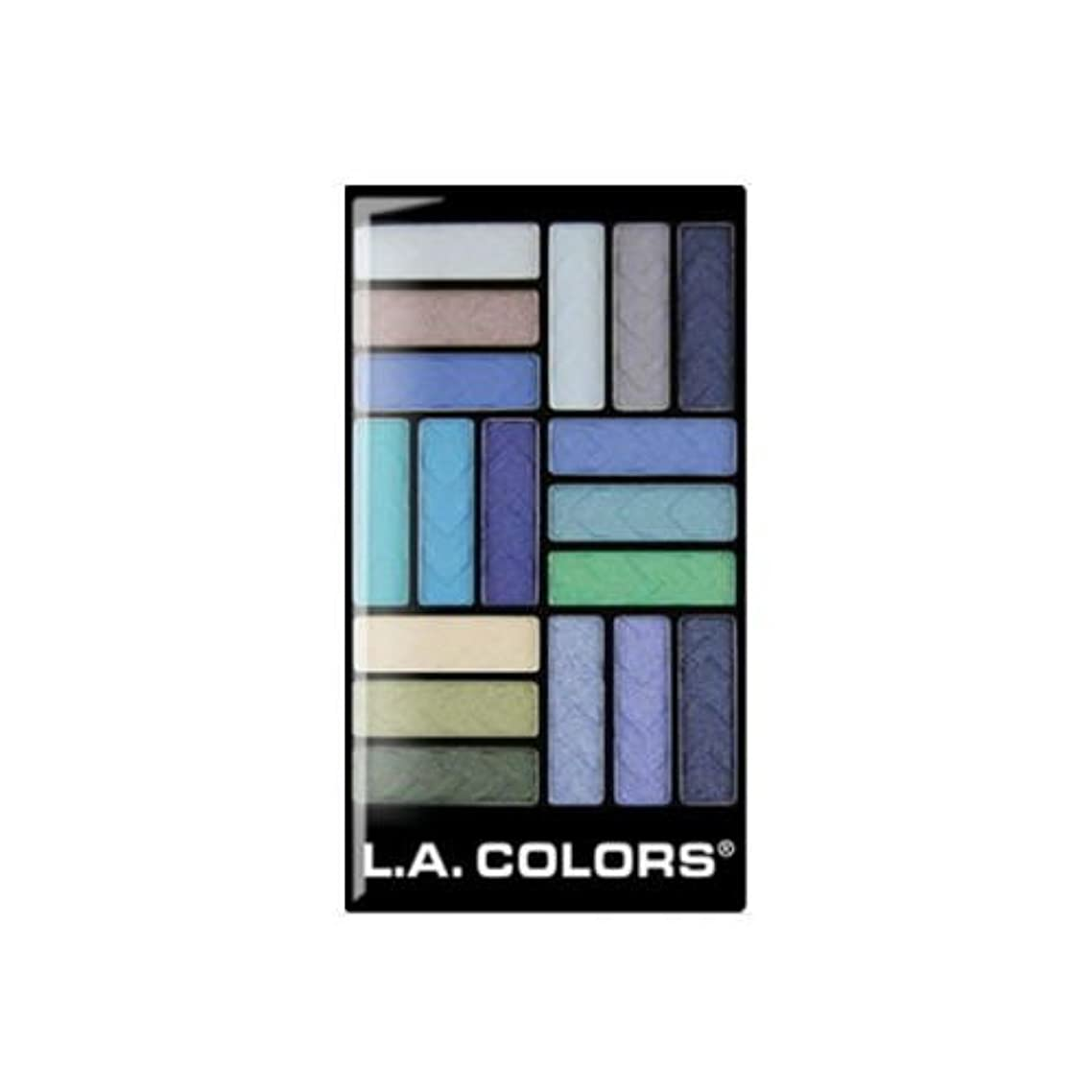 (6 Pack) L.A. COLORS 18 Color Eyeshadow - Shady Lady (並行輸入品)