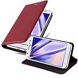 Cadorabo Funda Libro para Samsung Galaxy J5 2015 en Rojo Manzana - Cubierta Proteccíon con Cierre Magnético, Tarjetero y Función de Suporte - Etui Case Cover Carcasa