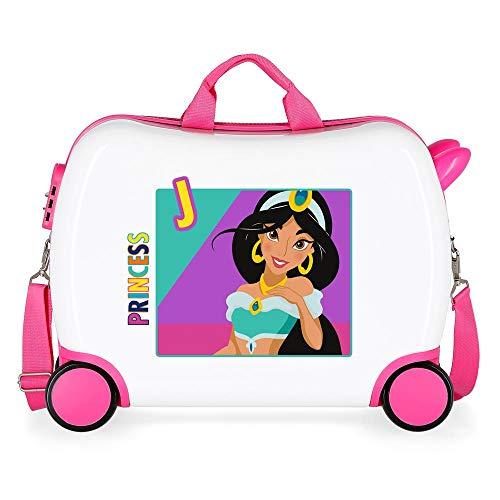 Disney Princess Multicoloured Kids Rolling Suitcase 50 x 38 x 20 cm Rigid ABS Combination Lock 34 Litre 2.3 kg 4 Wheels Hand Luggage