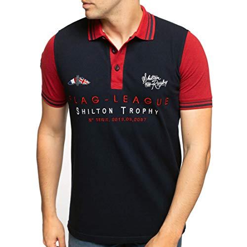 Shilton Rugby Flag Polo Shirt - Marineblau - L