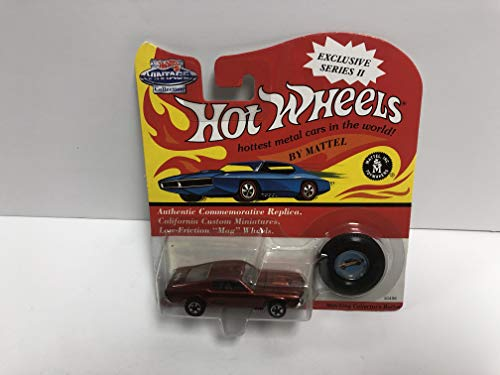 CUSTOM MUSTANG (burnt orange paint) HOT WHEELS Vintage Collection 1993 Collectors Edition diecast 1/64 scale with collector button