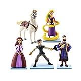 5 unids / Lote Modelo de Anime Figura de Princesa Juguete Flynn Rider Caballo Maximus King Magic Girl Modelo muñecas 11 cm