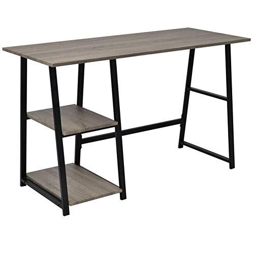 Computertisch mit Ablagefächern, Schreibtisch, für Laptop, Arbeitsstation, aus MDF und Metall, Arbeitstisch, Schreibtisch, Schreibtisch, für zu Hause, 120 x 50 x 73 cm