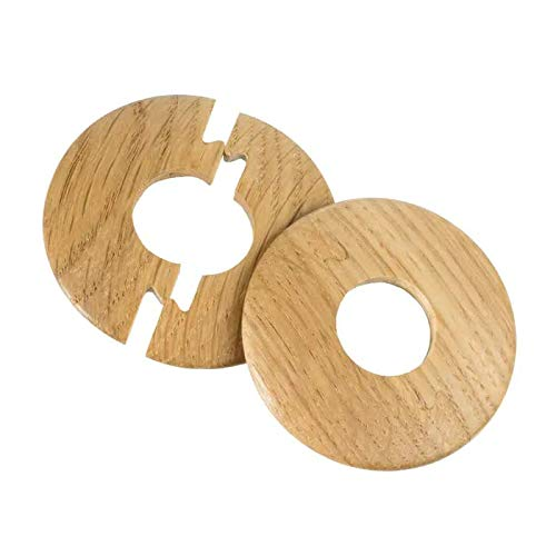 Solid Oak Lacquered Radiator Pipe Cover, Pipe Rose, Jigsaw - X2 Covers per Pack