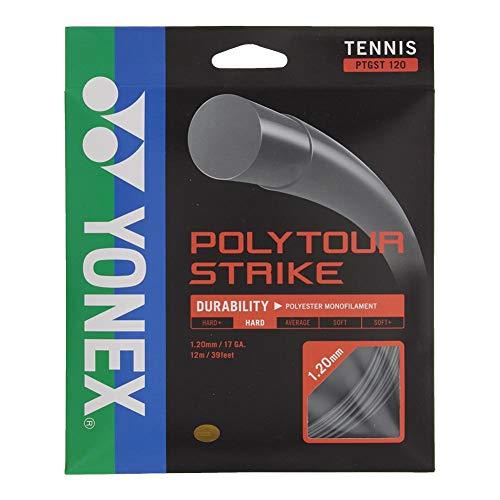 Yonex Poly Tour Strike Tennissaite Iron Gray, Unisex, Eisengrau, 1.30MM/16 GA.