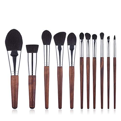 Makeup Brushes, Professionnel Cosmétique 11-pcs Essentiel Brosses, Brosse Cosmétique Fondation/Sets De Pinceaux De Maquillage - Imitation ébène